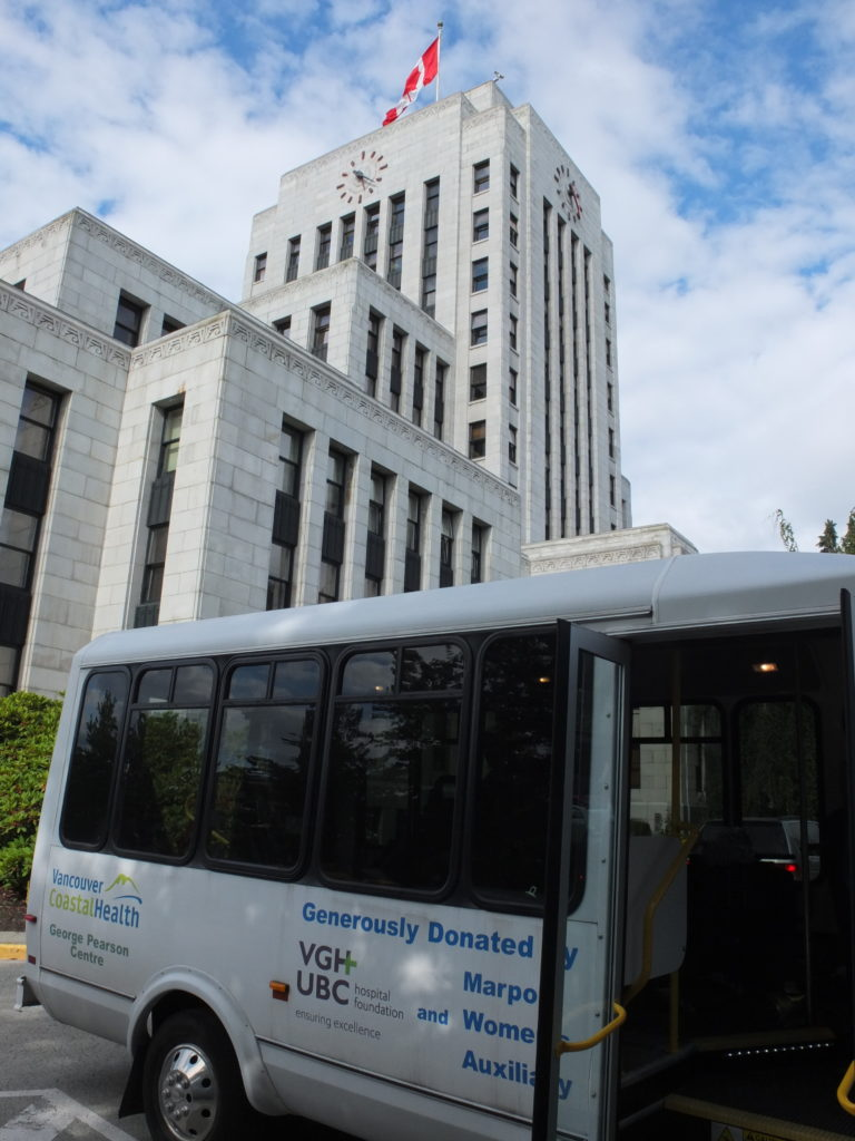 This image depicts the George Pearson Bus at City Hall