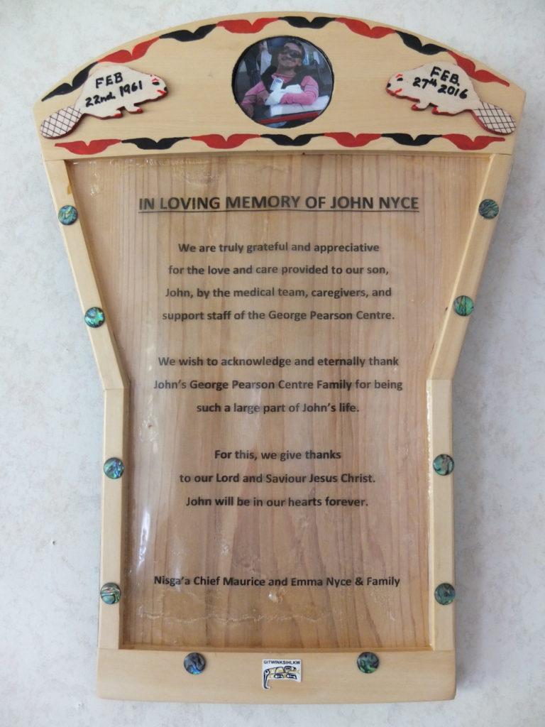John Nyce plaque