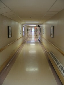 This image shows a hallway at Pearson